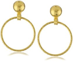 "Gurhan - ""Geo"" Small Hanging Hoop Post Earrings"
