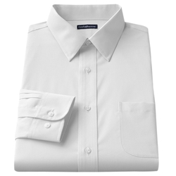 Croft & Barrow - Slim-Fit Solid Broadcloth Point-Collar Dress Shirt