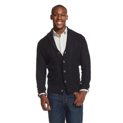 Dickies - Cable Shawl Collar Button Cardigan