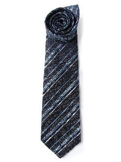 CHANEL VINTAGE  - striped print tie