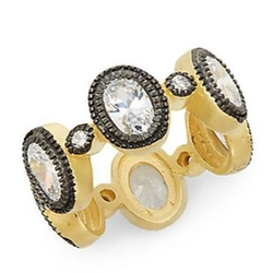 Freida Rothman - White Stone Vermeil Raindrop Ring