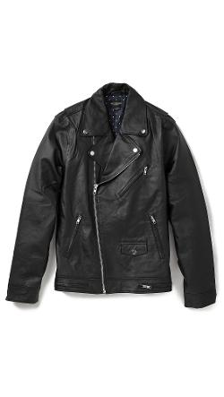 Obey  - Leather Moto Jacket