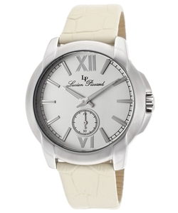 Lucien Piccard - Cordoba Beige Genuine Leather Silver-Tone Dial Watch