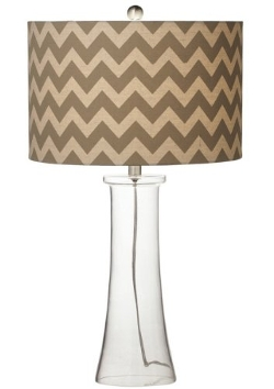 CC Home Furnishings - Contemporary Glass Table Lamp