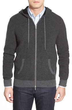 AG  - Archer Wool & Cashmere Zip Front Hoodie