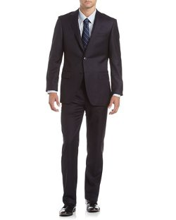Neiman Marcus  - Solid Herringbone Trim Fit Suit
