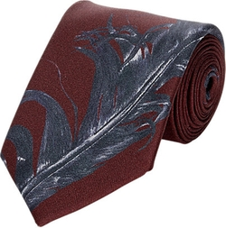 Alexander Mcqueen - Feather-Print Neck Tie