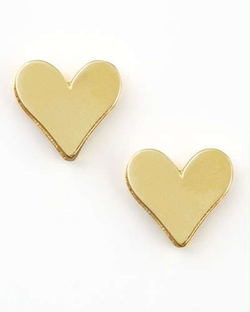 Dogeared - Gold Heart Earrings