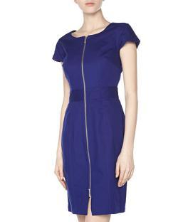 Raoul - Front-Zip Short-Sleeve Canvas Dress