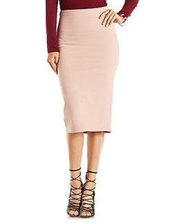 Charlotte Russe - Bodycon High-Waisted Midi Skirt