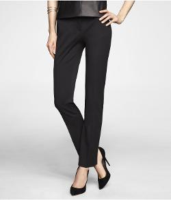 Express - Studio Stretch Wide Waistband Slim Leg Editor Pant