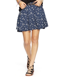 Denim & Supply Ralph Lauren  - Floral-Print A-Line Skirt