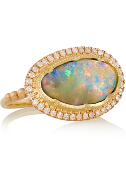Brooke Gregson - Boulder Opal And Diamond Ring