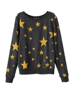 Chicnova - Star Print Long Sleeves Sweater