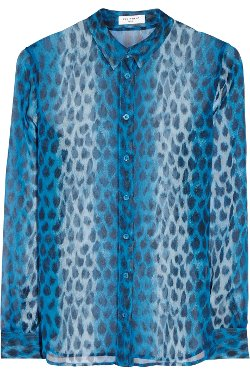 Equipment  - Audrey Leopard-Print Silk-Chiffon Shirt
