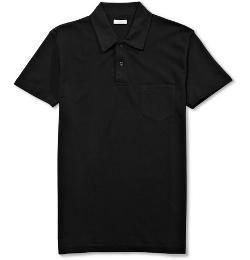 Sunspel   - Riviera Cotton-mesh Polo Shirt