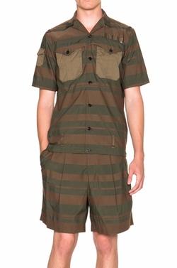 Kolor   - Striped Button Down Shirt