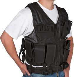 Modern Warrior  - Tactical Vest with Holster and Pouches