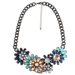 Target - Gray and Blue Fashion Necklace