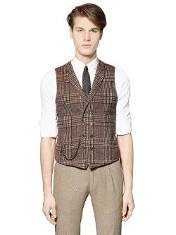 Royal Hem - Plaid Wool Blend Vest