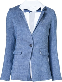 Veronica Beard - Single Button Woven Blazer
