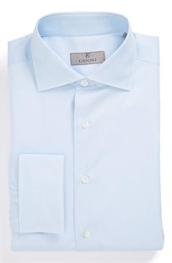 Canali - Regular Fit French Cuff Dobby Dress Shirt