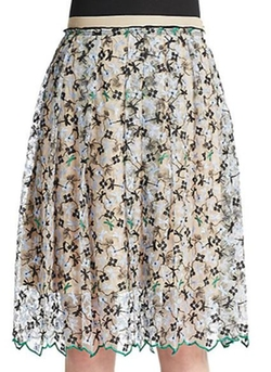 Aquilano Rimondi  - Embroidered Floral Skirt
