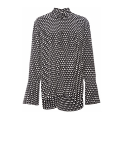 Marni - Silk Crepe Button Up Blouse with Flared Sleeves