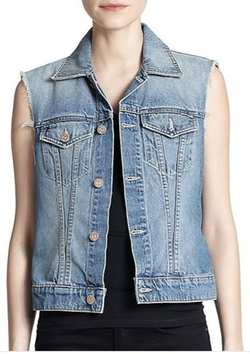 Mother - Bruiser Printed Denim Vest