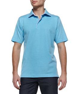 Ermenegildo Zegna   - Pique Short-Sleeve Polo