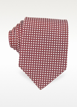 Forzieri  - Polkadot Woven Silk Tie