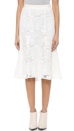 Rebecca Taylor - Lace Fluted Skirt