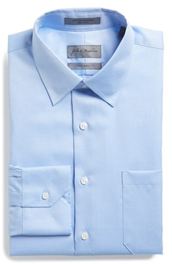 John W. Nordstrom - Traditional Fit Solid Piqué Dress Shirt