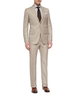 Ermenegildo Zegna	 - Trofeo Wool/Silk Solid Two-Piece Suit