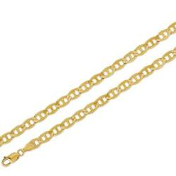 Mariner  - Yellow Gold Flat Chain Necklace