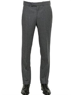 Alexander Mcqueen  - Wool Flannel Trousers