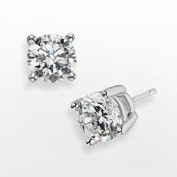 Diamonore  - Sterling Silver 2-ct. T.W. Simulated Diamond Stud Earrings