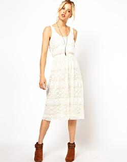 ASOS  - Lace Tank Midi Dress