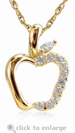 Ziamond - Apple Pave Cubic Zirconia Necklace