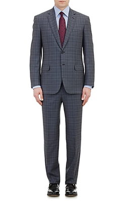 Brioni  - Plaid Two-Button Suit