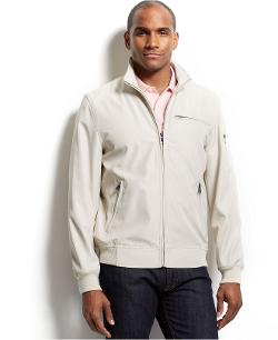 Perry Ellis  - Full Zip Stand Collar Bomber Jacket