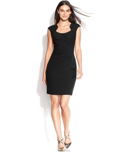 Calvin Klein - Cap-Sleeve Sheath Dress