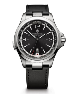 Victorinox Swiss Army	  - Night Vision Watch with Leather Strap