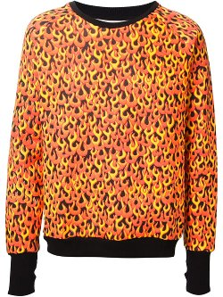 A. J. L Madhouse by Asger Juel Larsen  - Flame Print Sweater