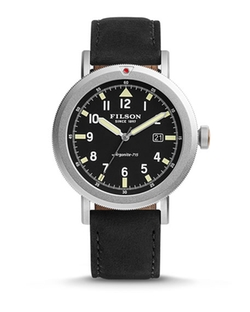 Filson - Scout Watch With Leather Strap, Black