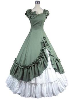 Treasure-Box - Tiered Corset Sleeveless Victorian Dress