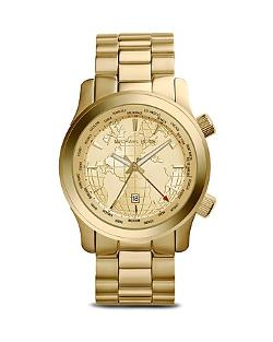 Michael Kors  - World Map Runway Watch