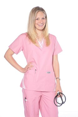 Dress a Med - Womens Stylish 2 Piece Scrub Set