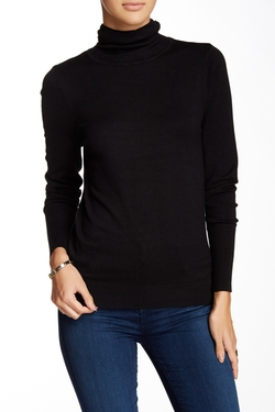 Susina  - Long Sleeve High Rib Cuff Turtleneck Sweater