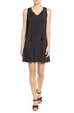 Kensie - Pleat Crepe A-Line Dress
